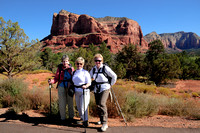 Jean, Jeanie, & MAry at Courthouse Butte - Sedona