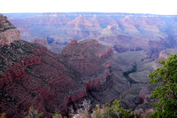 View down to Bright Angel Trail